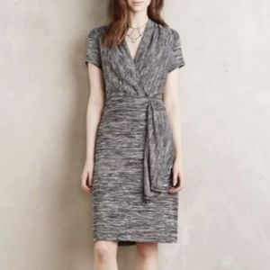 Anthropologie Maeve Gray Knit Dress